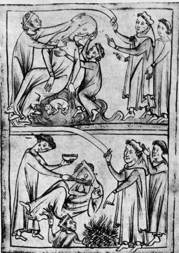 Curing an epileptic. Image circa 1250. (Photo by Hulton Archive/Getty