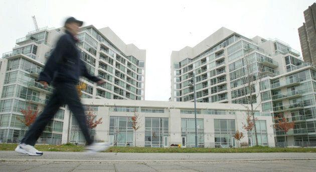 Waterfront condos in Toronto.