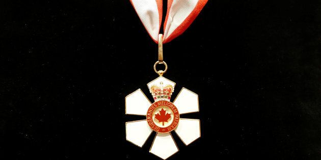 Britain's Prince Charles' Order of Canada is pictured, before being presented to him, at Rideau Hall...