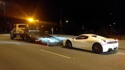 B.C. Ferrari Driver Clocked At 210 Km/H On Lions Gate
