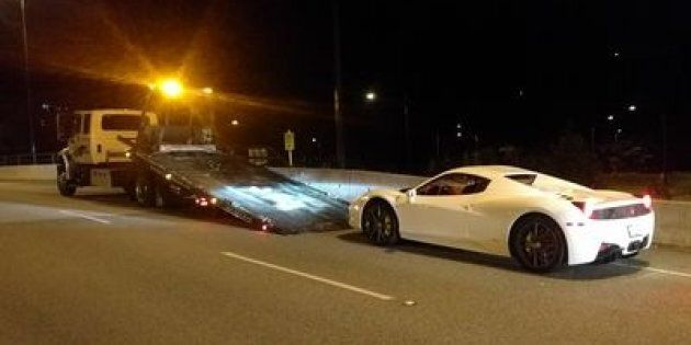 Lions Gate Bridge Ferrari Impounded After Driver Clocked At 210