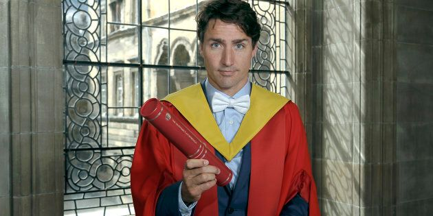Prime Minister Justin Trudeau, is awarded an honorary degree at the University of Edinburgh on July 5,...