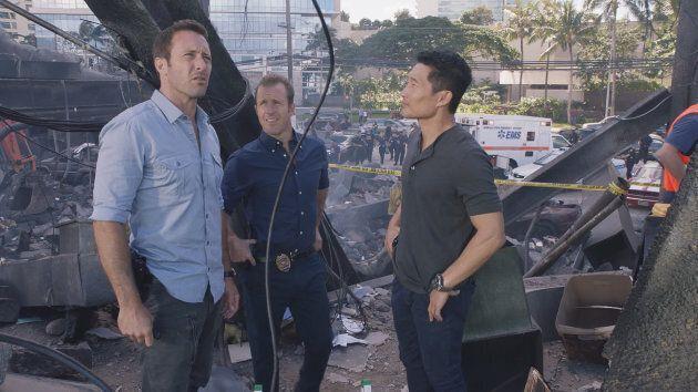Alex O'loughlin as Steve McGarrett, Scott Caan as Danny 'Danno' Williams, and Daniel Dae Kim as Chin Ho Kelly. (Photo by CBS via Getty Images)