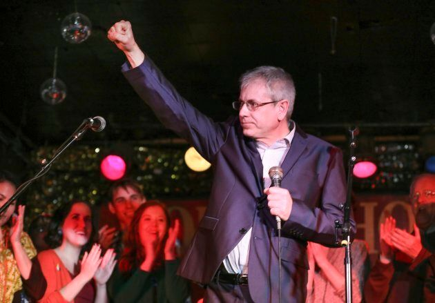 Charlie Angus is shown at his campaign launch at the Horseshow Taven in Toronton on Feb. 26,