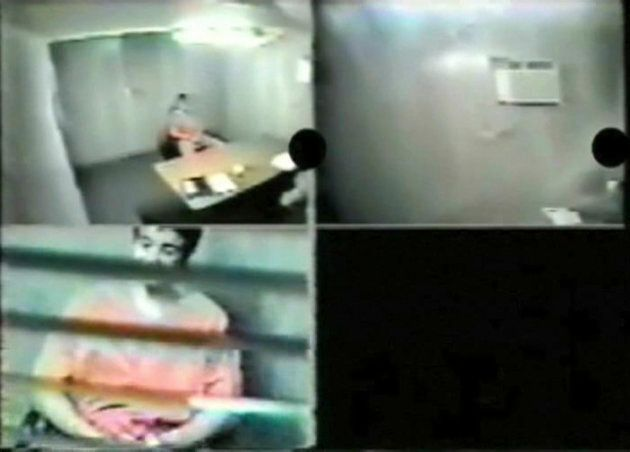 Omar Khadr, 16 years old at the time, appears in multiple video screen grabs during a February 2003 interview in the Guantanamo Bay prison.