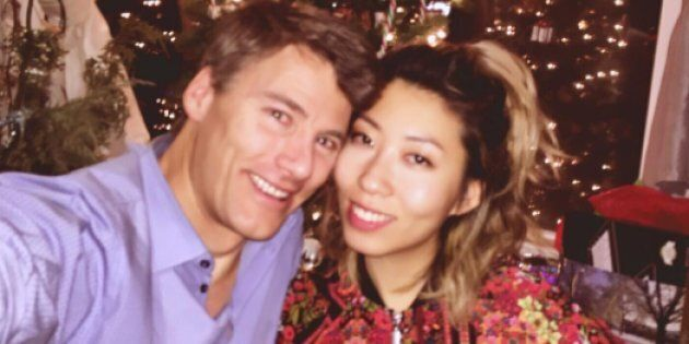 Gregor Robertson and Wanting Qu in an Instagram post uploaded on Christmas