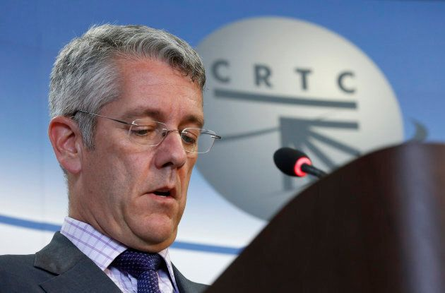 Canadian Radio-television and Telecommunications Commission (CRTC) Chairman Jean-Pierre Blais takes part in a news conference in Gatineau, Quebec June 27, 2013.