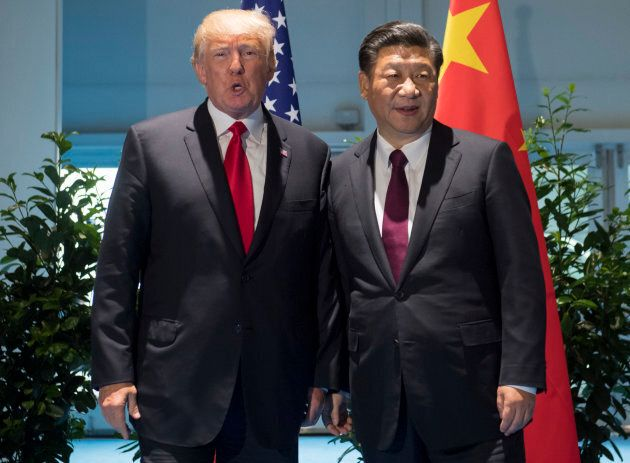 U.S. President Donald Trump and Chinese President Xi Jinping at the G20 summit in Hamburg, Germany. (Photo...