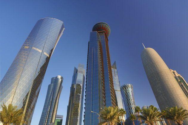 Qatar skyline.