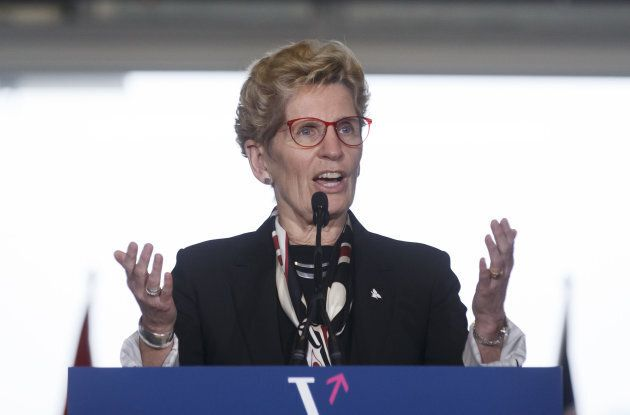 Ontario Premier Kathleen Wynne speaks during an event at MaRS Discovery District in Toronto, Ont., March...
