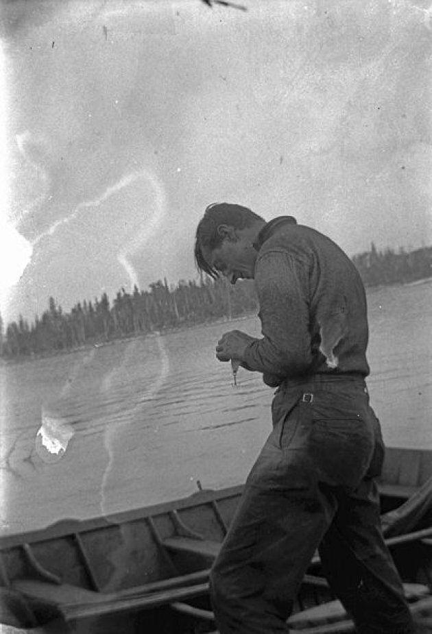 Tom Thomson fishing in Algonquin Park.