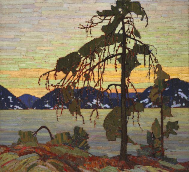 This painting, called The Jack Pine, was finished by Tom Thomson sometime between 1916 and 1917.
