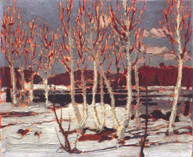 Tom Thomson pained April in Algonquin Park in 1917.