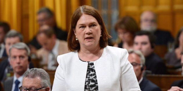 Minister of Health Jane Philpott stands during question period in the House of Commons on Parliament...