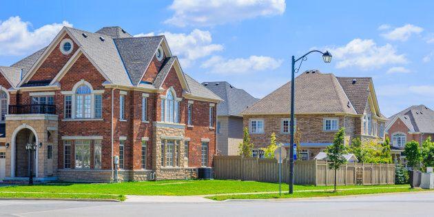 Custom built luxury house in the suburbs of Toronto, Canada.