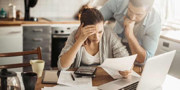 Canadians are taking on more debt and spending more money, but they aren't earning more than they used