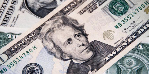 Past U.S. President Andrew Jackson is depicted on the 20-dollar