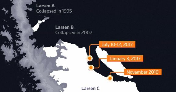 Antarctic Iceberg Weighing A Trillion Tonnes Just Broke Off From An Ice