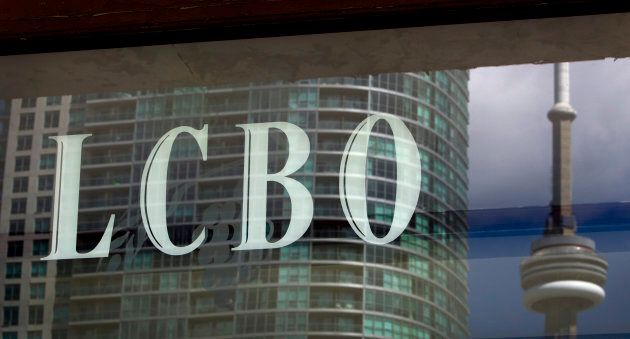 Liquor Control Board of Ontario (LCBO) signage is displayed outside of company headquarters in Toronto,...