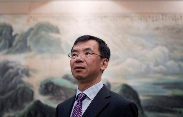 China's Ambassador to Canada Lu Shaye is shown at the Embassy of the People's Republic of China in Canada,...