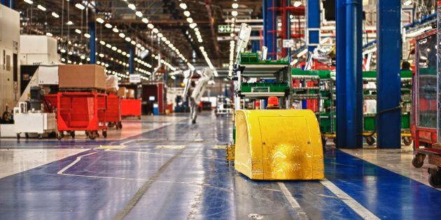 An autonomous warehouse.
