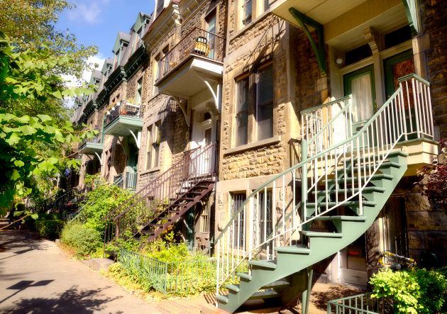 Brownstones on Montreal's Saint Louis Square. The city is an increasingly popular destination for foreign buyers.