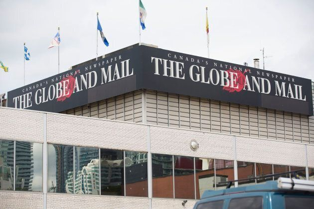 Exterior of the Globe and Mail newspaper building.