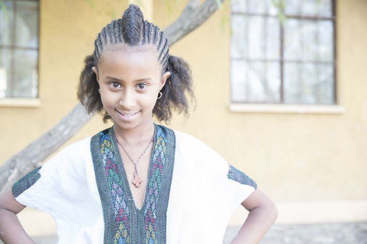 An adolescent girl at school in northern Ethiopia