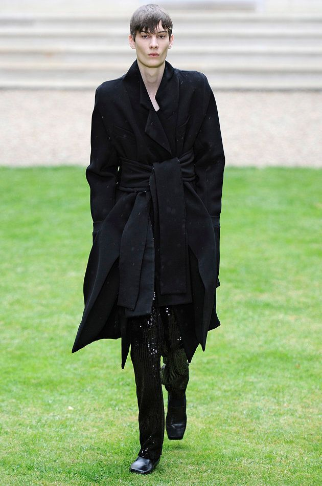 A model walks the runway at the Rad Hourani Autumn Winter 2014 fashion show during Paris Haute Couture...