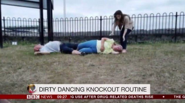 Couple's Attempt At 'Dirty Dancing' Lift Is A Hilarious Epic
