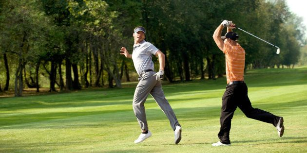 Don't get angry on the golf course