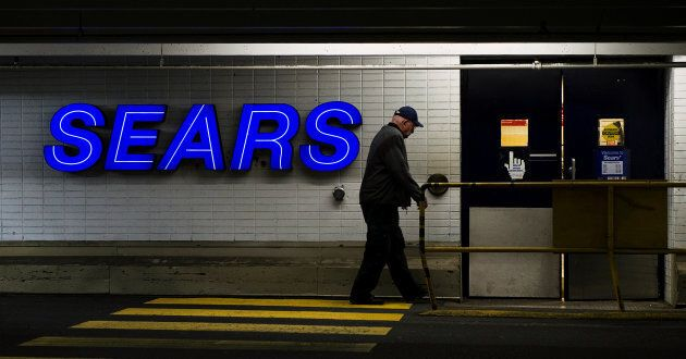 A customer enters the Sears store in North Vancouver, British Columbia February 23,