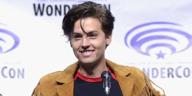 Actor Cole Sprouse on the 'Riverdale' panel at WonderCon at the Anaheim Convention Center on March 31,...