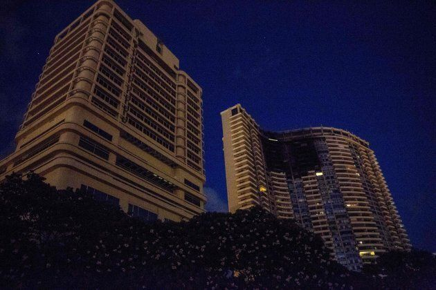 Three people died in the fire that hit the Marco Polo building in