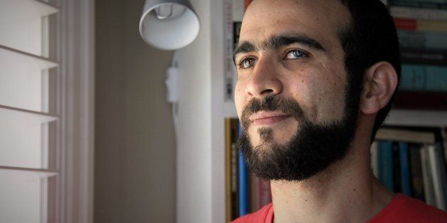 Former Guantanamo Bay prisoner Omar Khadr, 30, is seen at a home in Mississauga, Ont., on July 6,