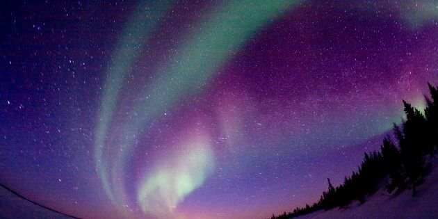 The northern lights are pictured in 2006 in northern