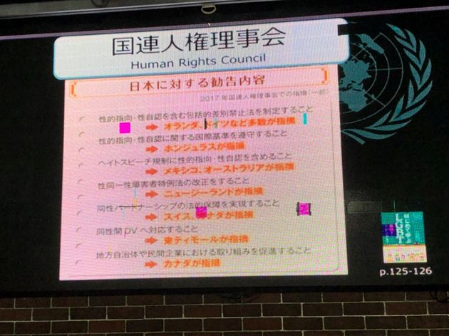 国連人権理事会の日本に対する勧告