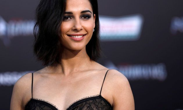 Naomi Scott at the premiere of
