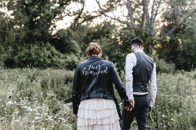 Newlyweds Karly and Josh.
