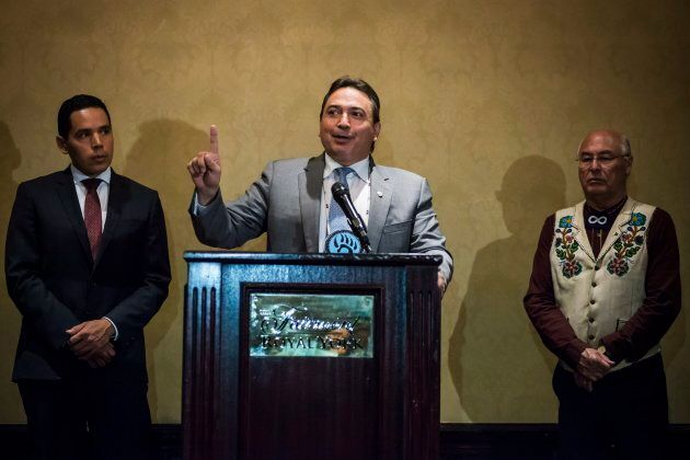 The Assembly of First Nations national chief Perry Bellegarde, Inuit Tapiriit Kanatami president Natan...