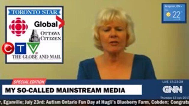 Cheryl Gallant slammed Canadian media during a