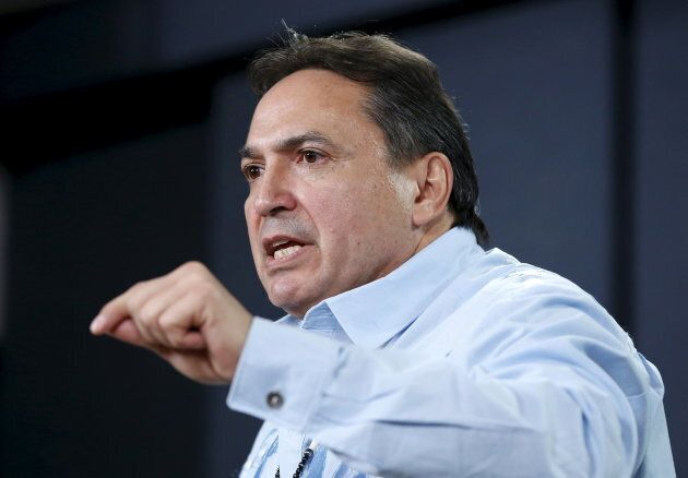 Assembly of First Nations National Chief Perry Bellegarde speaks during a news conference regarding a...