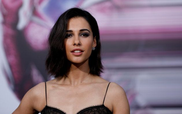 "Cast member Naomi Scott poses at the premiere of ""Power Rangers"" in Los Angeles, California U.S., March 22, 2017."