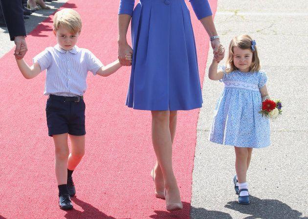 Prince William, Duke of Cambridge, Catherine, Duchess of Cambridge, Prince George of Cambridge and Princess...