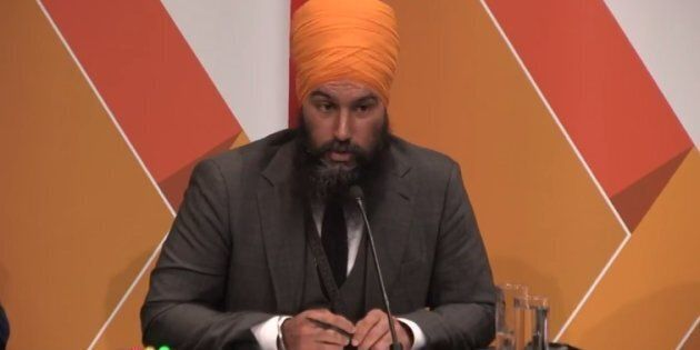 NDP leadership candidate Jagmeet Singh speaks during a debate in Saskatoon, Sask. on July 11,