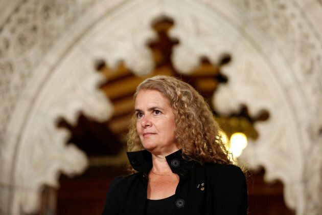 Former astronaut Julie Payette takes part in a news conference announcing her appointment as Canada's...