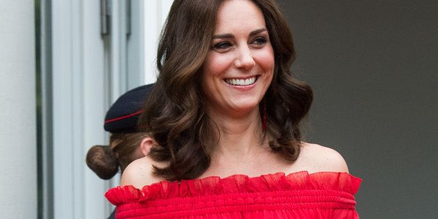BERLIN, GERMANY - JULY 19: Catherine, Duchess of Cambridge attenda The Queen's Birthday Party at the...