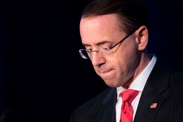 Deputy Attorney General Rod Rosenstein addresses the National Summit on Crime Reduction and Public Safety...