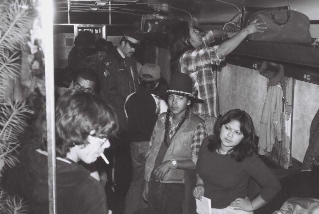 Passengers on the Constitution Express, 1980. (Photo: Union of B.C. Indian Chiefs)