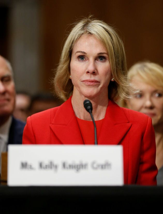Kelly Knight Craft testifies during her confirmation hearing to be U.S. ambassador to Canada on Thursday...